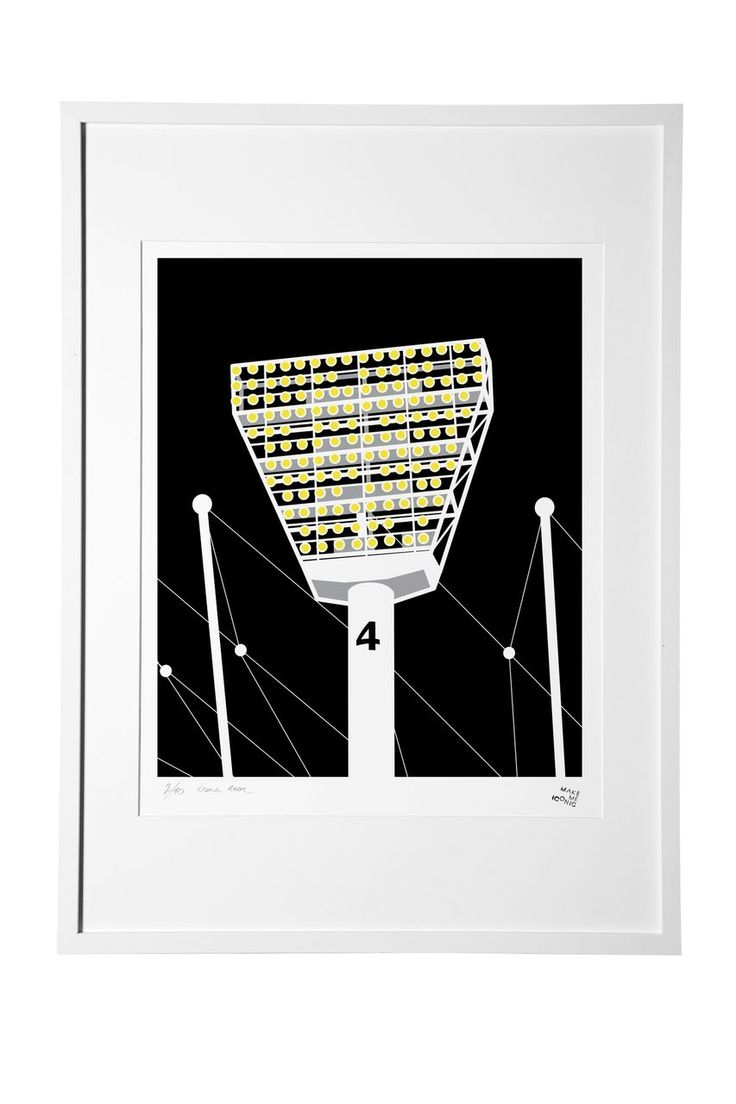 hardtofind.   Iconic lights night screenprint