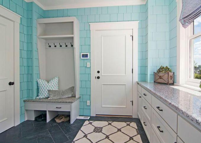 Turquoise Mud Room