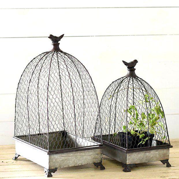 Birdcage Planter Stand, Set of 2