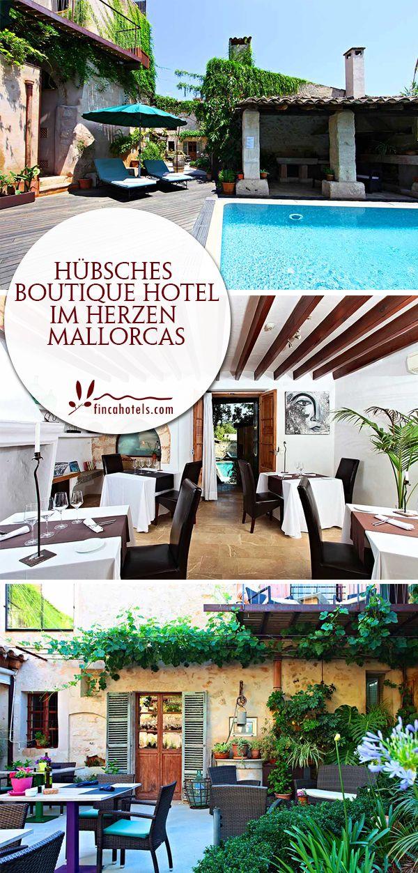 Im beschaulichen Örtchen Sineu versteckt sich ein kleines Geheimnis. Ein Boutique Hotel, das auf den charmanten Namen Can Joan Capo hört. Hinter dicken Mauern wartet auf seine Gäste ein verträumter Innenhof mit schönem Pool und gemütlich-modernen Zimmern. Das kleine Hotel auf Mallorca verfügt zudem über ein Restaurant, das Sie probiert haben müssen!