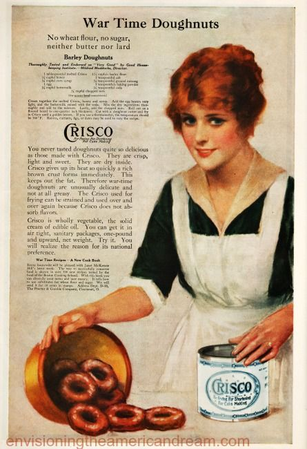 Vintage WWI  Ad for Crisco 1918