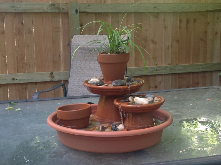 64 best fountains and waterfalls images on pinterest for Diy pond fountain