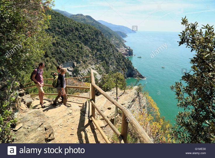 Hiking Trail, Cinque Terre, Italy. Path From Monterosso Al Mare To Stock Photo…
