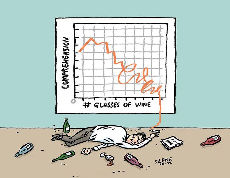 Comprehension v Wine Graph by slanecartoons