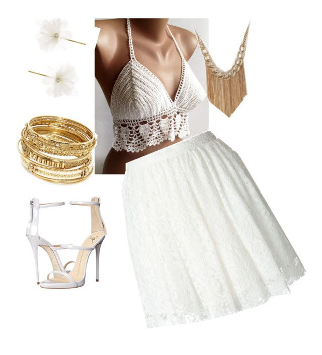 """White lace"" by elena-vorobey ❤ liked on Polyvore featuring IRO, Giuseppe Zanotti, ABS by Allen Schwartz and Accessorize"