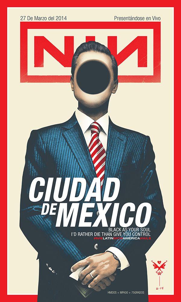 NIN - CIUDAD DE MEXICO 2014 by Alex Arizmendi, via Behance