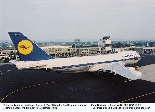 An early Lufthansa Boeing 747-200 seen here in at Graz Thalerhof in Austria - Photo: Lufthansa