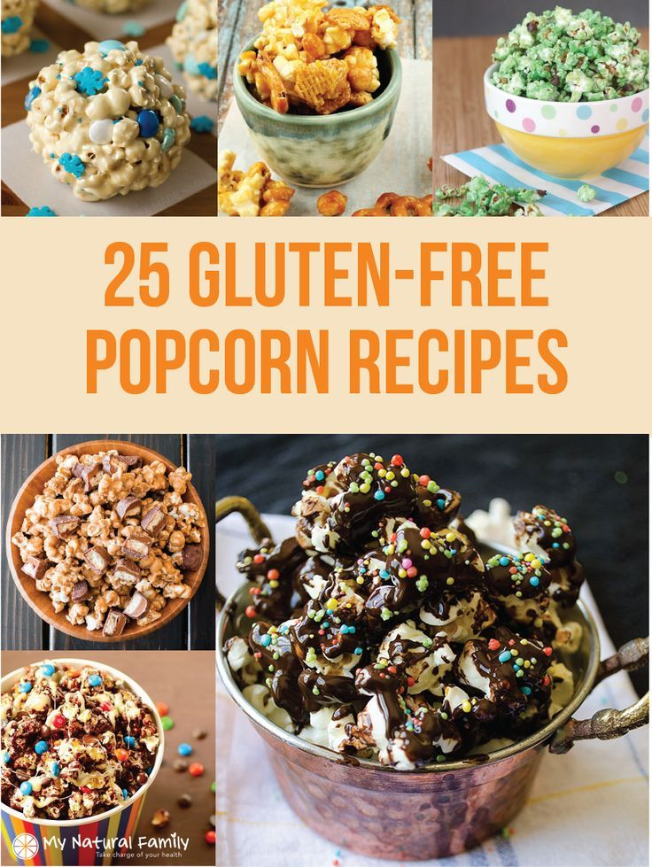 25 Gluten-Free Popcorn Recipes - you will love the variety of gluten-free snacks for Game Day, movie night, party night, game night or simple alone time.