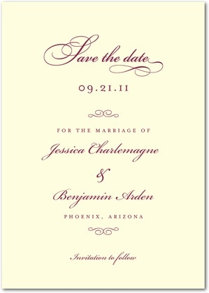 Formal save the date