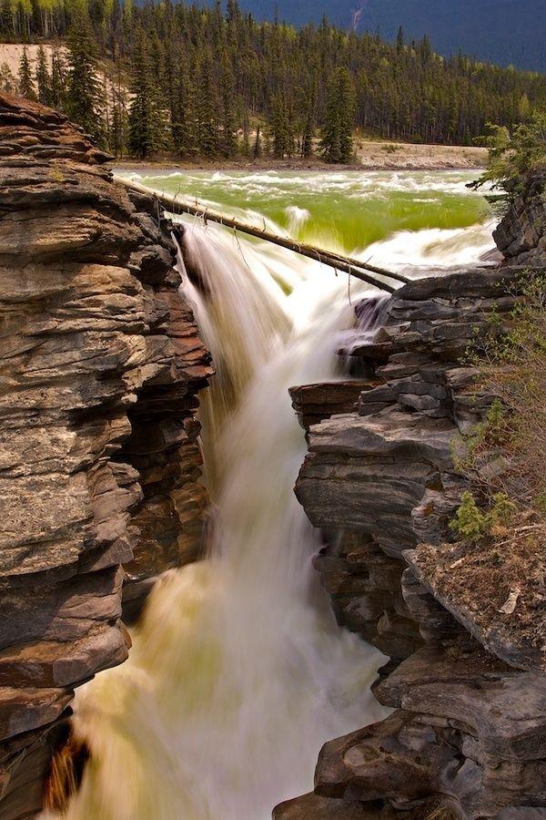 Waterfalls – Amazing Creation of Nature Part 2 - Athabasca Falls, Jasper, Alberta, Canada