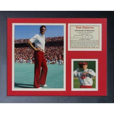 Legends Never Die Tom Osborne Framed Memorabilia
