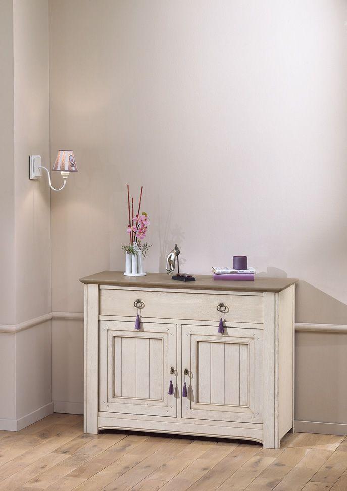 S jour alhambra meuble d 39 entr e 2 portes 1 tiroir for Meuble bureau hauteur 70 cm