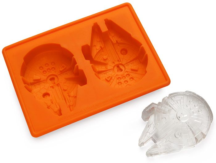 Star Wars Millennium Falcon Ice Cube Tray, great for chocolate and other things too :: ThinkGeek :: $9.99