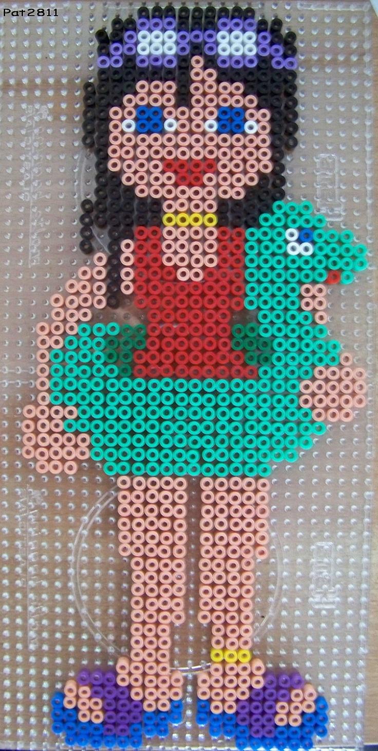 sandylandya@outlook.es Girl on the beach perler hama beads