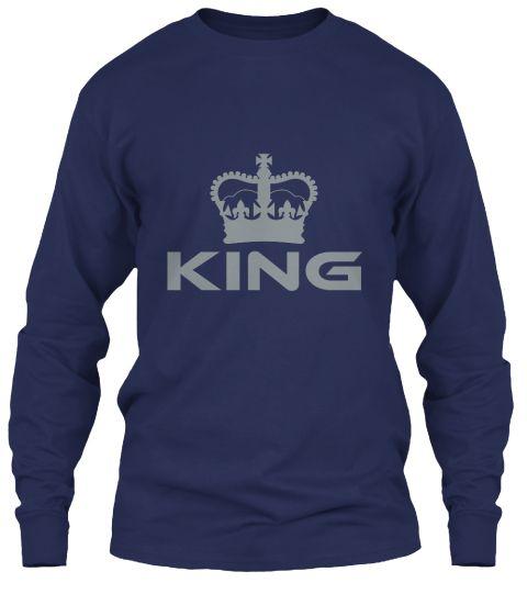 King Navy Long Sleeve T-Shirt Front