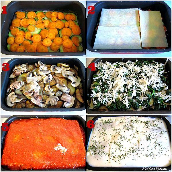 Cómo hacer una lasaña de verduras baja en calorías