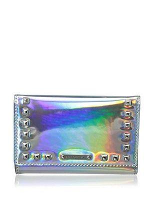 62% OFF Rebecca Minkoff Hologram Marissa Wallet With Studs (Platinum)