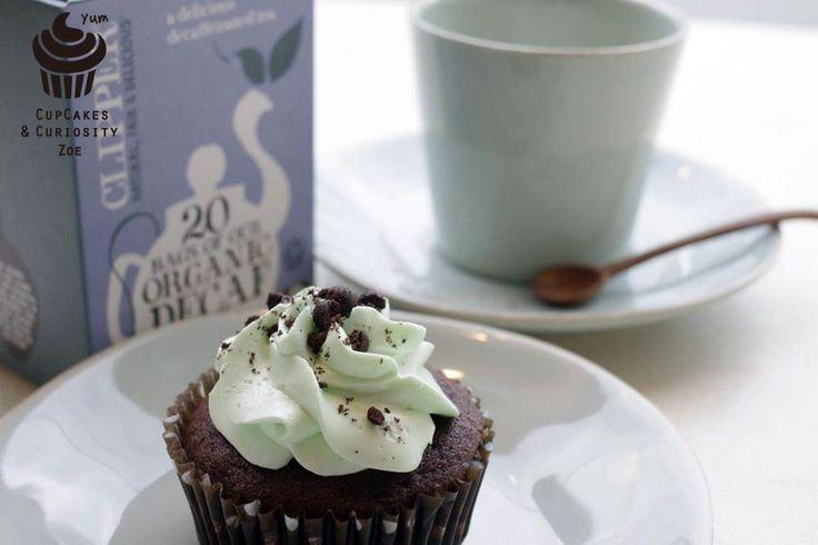 Chocolate mint cupcake & Organic tea