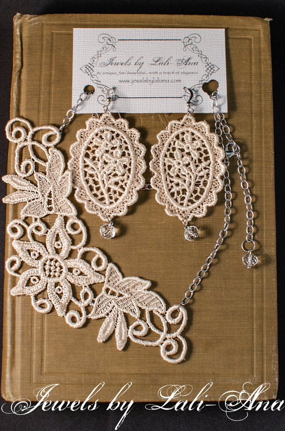 Jewels by LaliAna Lace Jewelry Winter by JewelsbyLaLiAna on Etsy, $35.00
