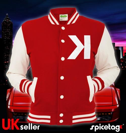 SPICETAG Kavinsky Varsity Jacket Electro House Music K Testarossa Nightcall Red | eBay