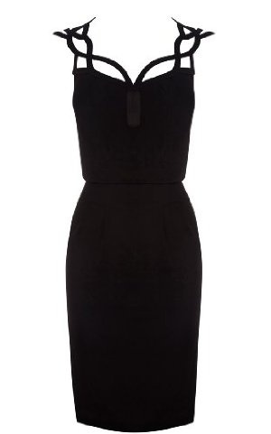 Karen Millen Graphic Cutwork Dress : Dresses