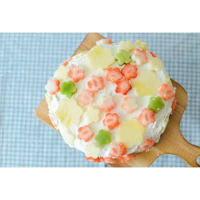 お花いっぱいのケーキ : ななな工房
