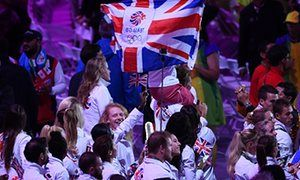 Team GB athletes enjoy the closing ceremony of the Rio Olympics.