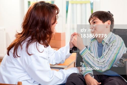 Stock Photo : Little Boy and Doctor