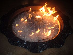 Aquatic Glassel/ Moderustic Fire Pit Fire Glass Design Fireplace and Fire Pit glass for replacement
