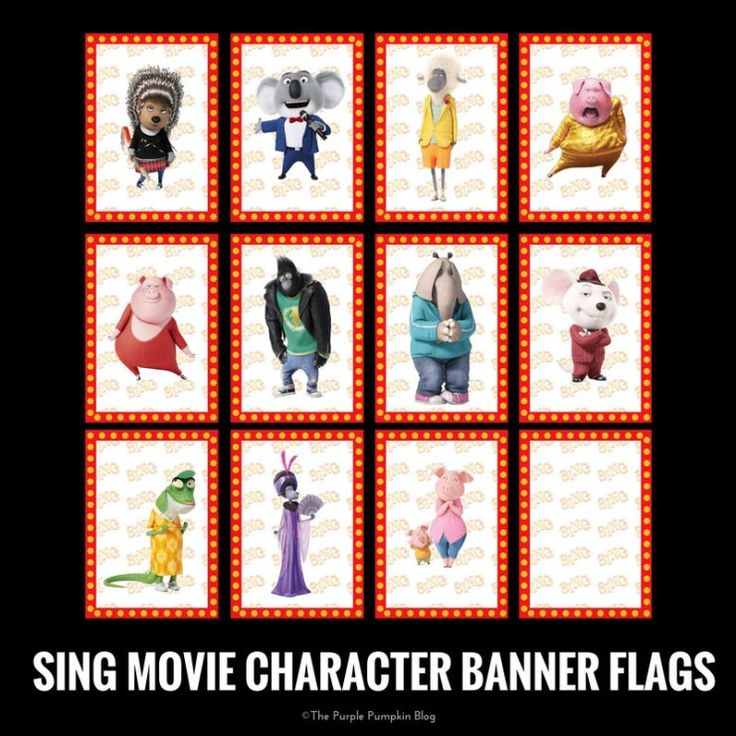 Look no further for SING Movie party printables! Everything you need to throw an awesome SING party can be downloaded for FREE!