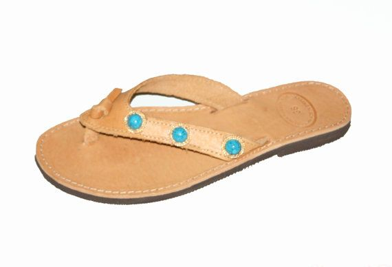 Turquoise Stone Sandals - Conbo V with turquaze Stones sandals