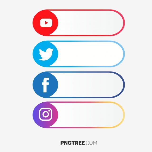 Social Media Label Set Social Media Clipart Social Media Icons Social Media Png And Vector With Transparent Background For Free Download Social Media Icons Logo Facebook Youtube Banner Backgrounds