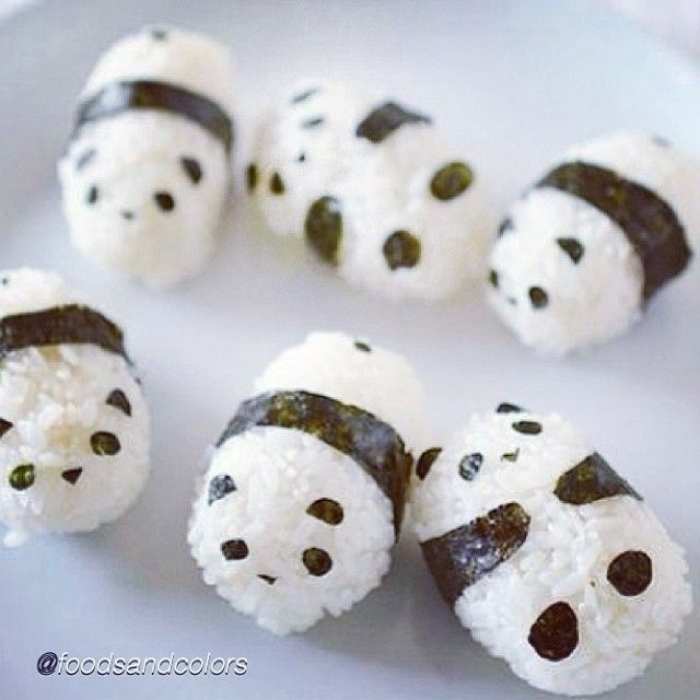 Food DIY idea. by @foodsandcolors. Tag a friend who would love this. Baby sushi pandas!  #sushi #rice #food #diy #tutorial #instruction #instafood #dessert #yum #treat #foodporn #easy #dinner #ideas #idea #cupcake #cakes #lunch #projects #doityourself #party #fruit #tutorials #instructions #diys #doityourself #diyproject #creative #pictorial #craft