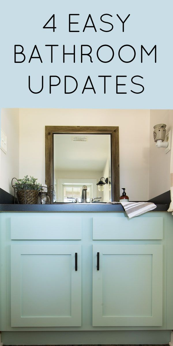 4 Easy Powder Room Updates Bathroom Ideas Pinterest Bathroom