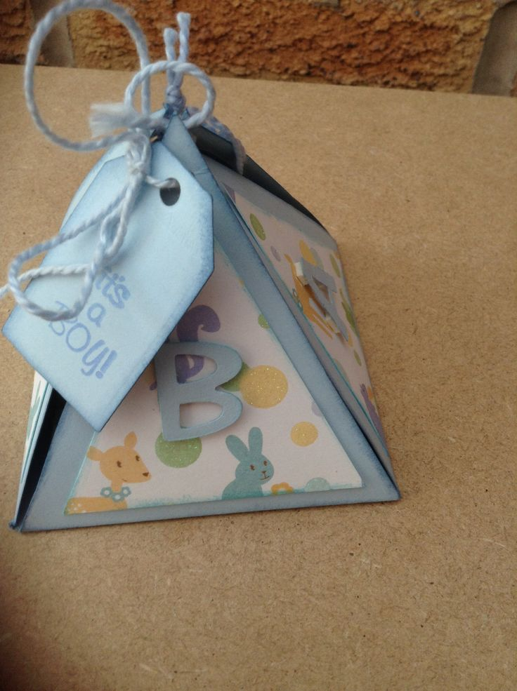 Triangle exploding box It's a boy card