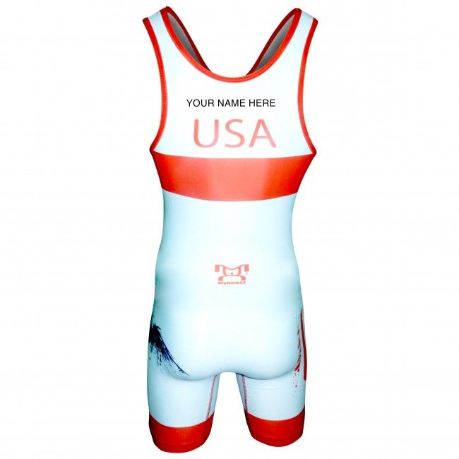 Customize our MyHOUSE USA White Freestyle Singlet with your name, just like the professionals only at MyHOUSE Sports Gear. Once your order is confirmed, your custom #singlet will be processed made at our factories.