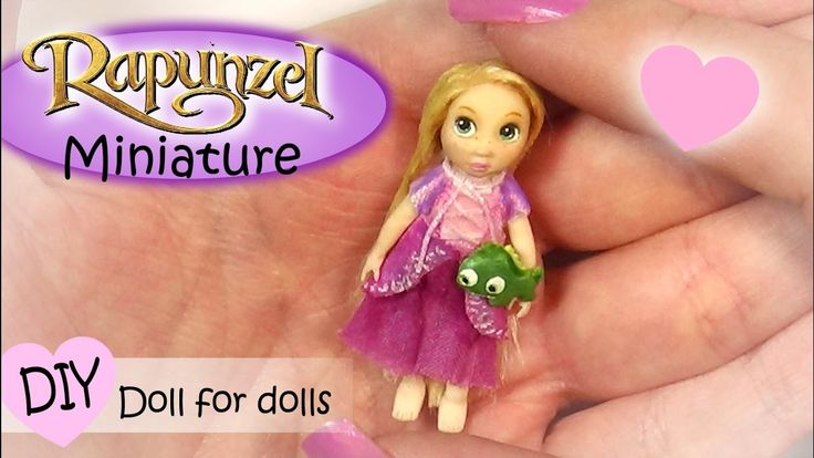 Miniature Rapunzel Inspired Doll Tutorial // DIY Dolls/Dollhouse