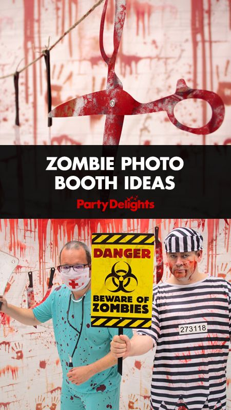 Throwing a Halloween party this year? How about setting up a Halloween photo booth? Read our zombie photo booth ideas for inspiration and all the photo props and photo booth decorations you need to make yours a spooky success!
