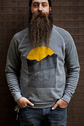 Celebrate new beginnings with a sunrise sweatshirt.  http://thebeardtrimmer.co.uk