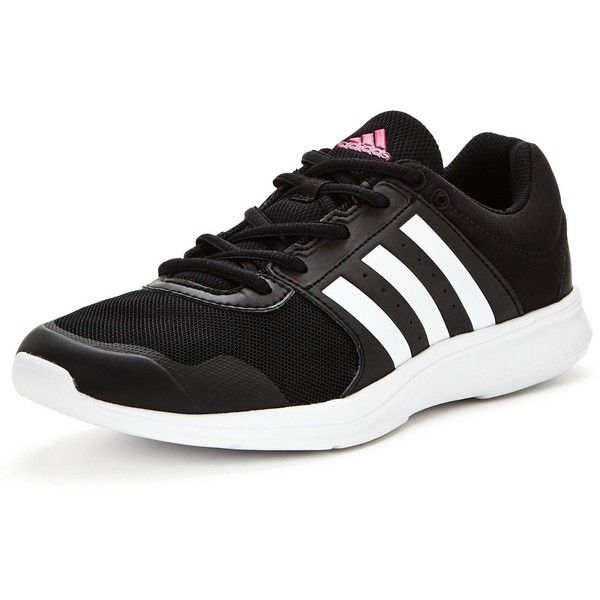 Adidas Essential Fun 2.0 ($45) ❤ liked on Polyvore featuring shoes, caged shoes, black special occasion shoes, black cage shoes, black shoes and black evening shoes