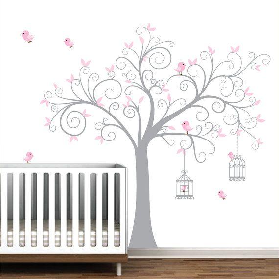 Enfants maternelle Wall Decal arbre avec cages à par Modernwalls, $99.00