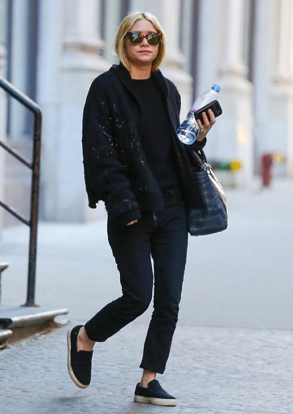 9 Times Ashley Olsen Stepped Out In Cropped Jeans