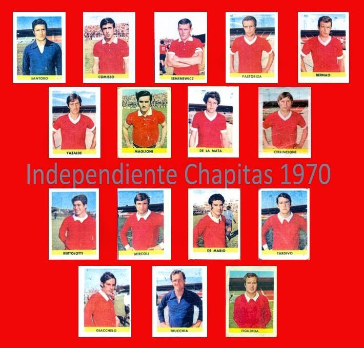 Figuritas de Futbol: Figuritas Chapitas 1970 - Independiente