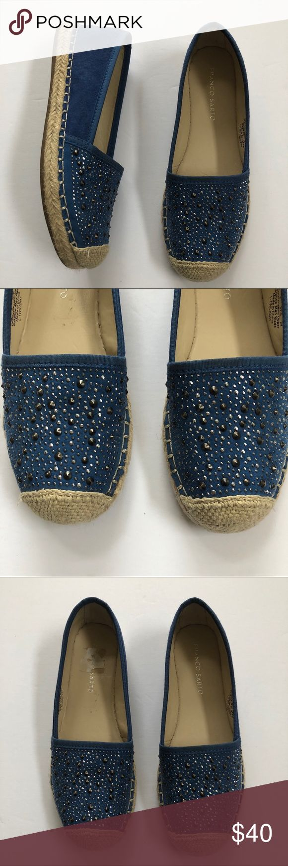 Franco Sarto twilight embellished espadrille Excellent condition. Suede material. Franco Sarto Shoes Espadrilles