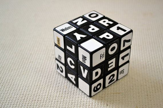 Perpetual Calendar Cube : Ideal rubik s cube perpetual calendar vintage the