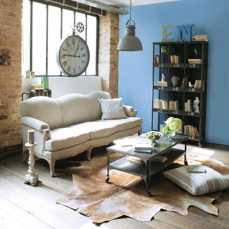 etag re indus noire austin h181 w95 d36 metal 450 maison du monde chalet pinterest. Black Bedroom Furniture Sets. Home Design Ideas
