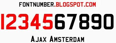 Ajax Amsterdam 2013-2014 Font