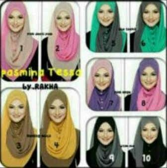 PASMINA TESSA  Harga : Rp. 52.000, Bahan: Sifon Ceruti, Model: 2 warna yg cantik #Katalog_HijabManis #HijabManis #Kerudung #Jilbab #Pasmina #Tessa #Sifon #Cantik #Simple