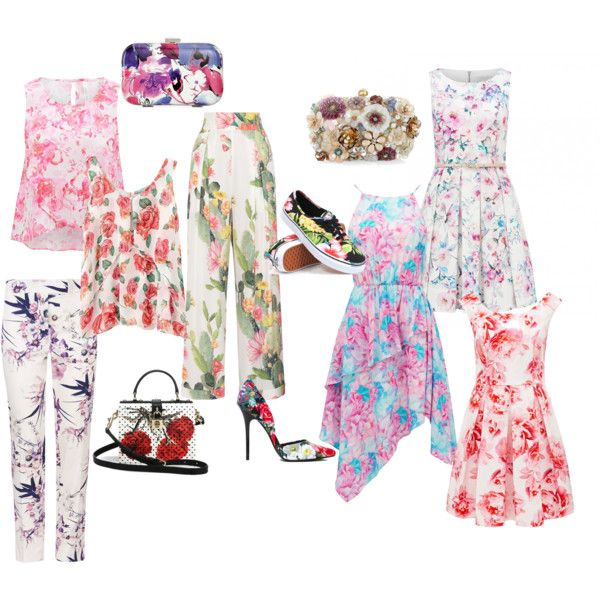 Floral inspo by blondavapotvora on Polyvore featuring Forever New, Matthew Williamson, Steve Madden, Vans, Dolce&Gabbana, Accessorize and Style & Co.