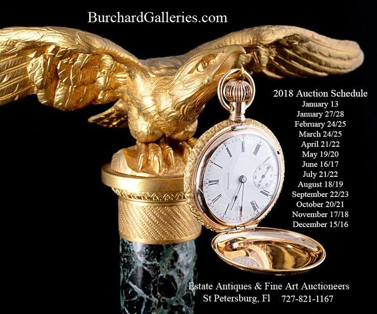 Happy Early New Year!  #auctionupdate #auction #schedule #jewelry #jewels #furniture #homedecor #art #artwork #gallery #artforsale #lamp #lamps #design #decor #jade #rug #rugs #oriental #fur #porcelain #clocks #watches #glassware #FL #StPetersburg  www.burchardgalleries.com